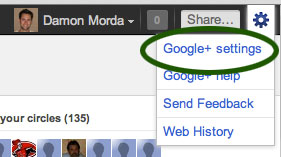 Configure your Google+ settings